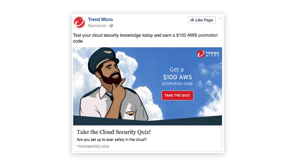 trend micro example of a middle-of-funnel facebook advertisement