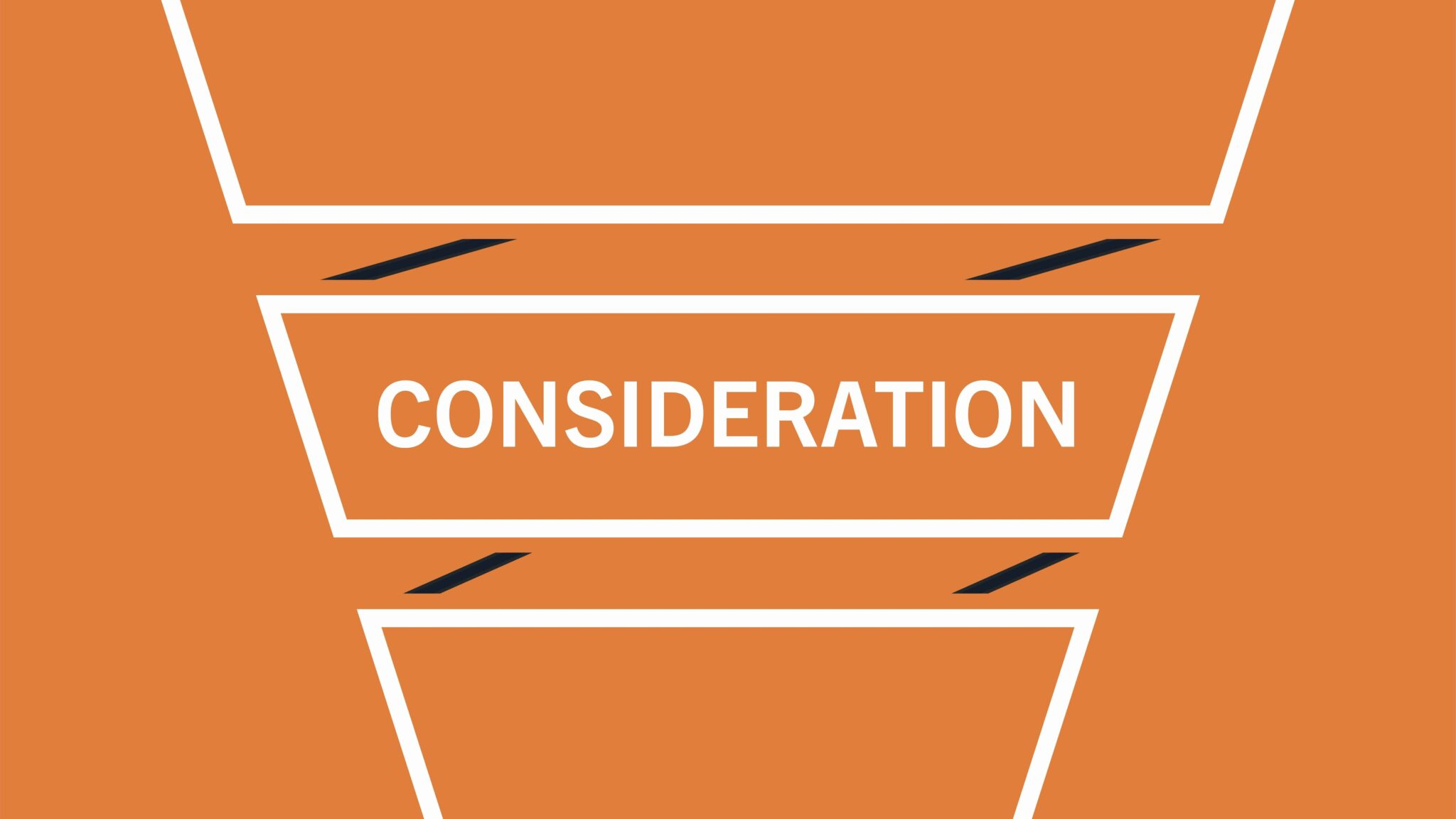 consideration stage of the B2B marketing funnel