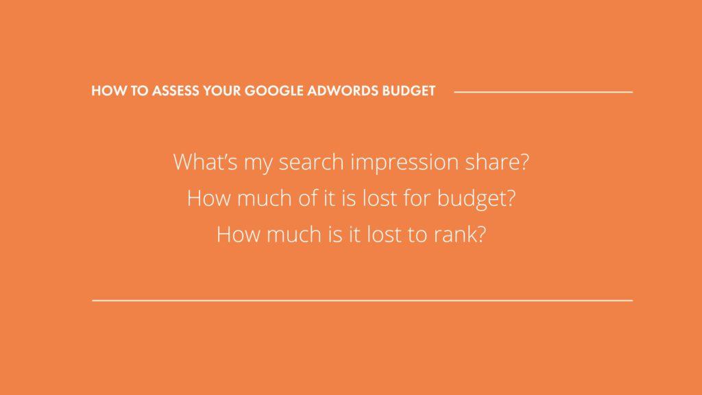 Google AdWords Budget