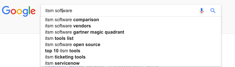 Generated potential topics from Google search engine.