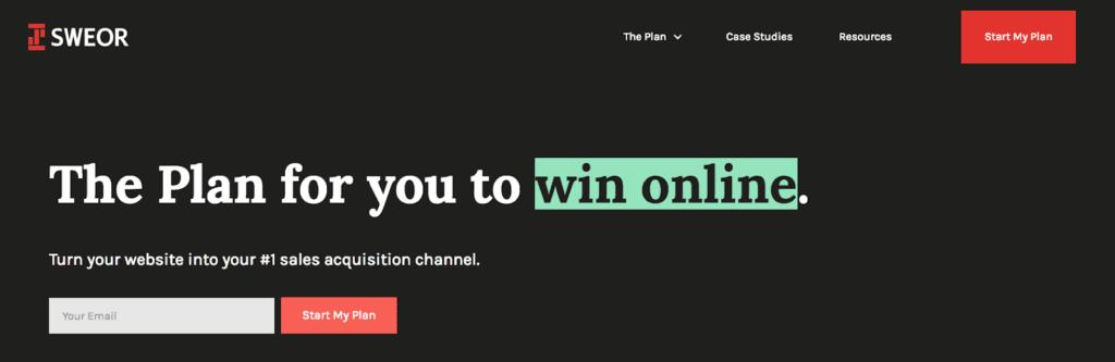 Website optimization example