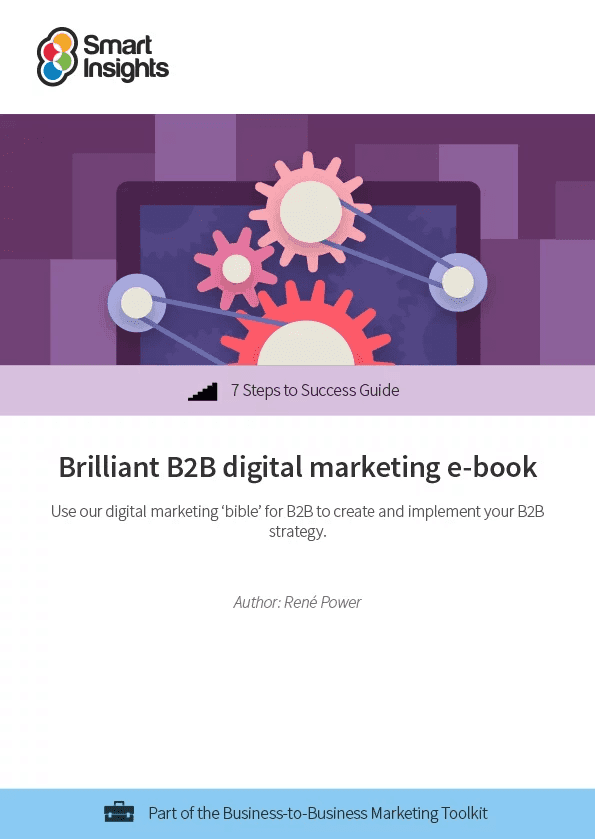 Image of strong B2B digital marketing e-book.