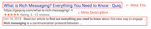 Example of keyword targeting in meta tags to enhance B2B SEO.