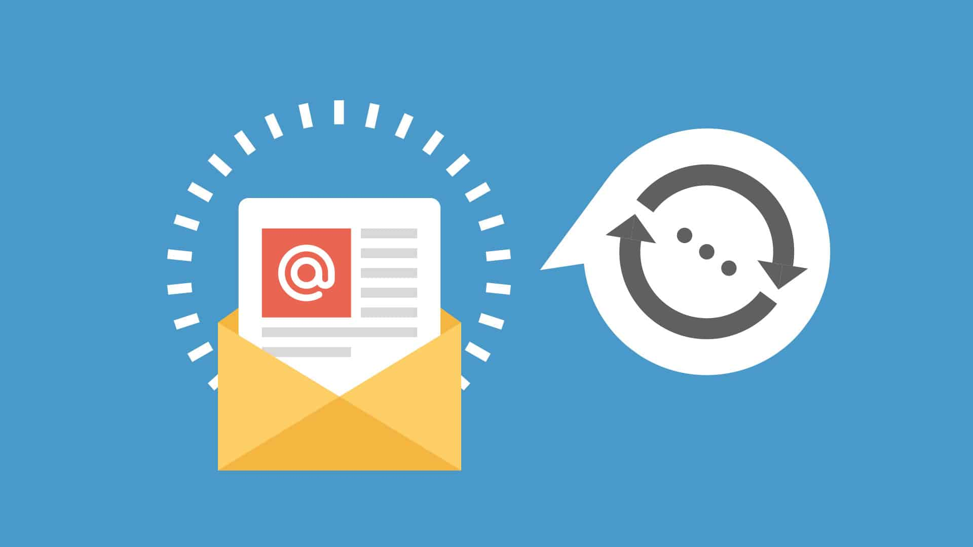 Email outreach link building icon