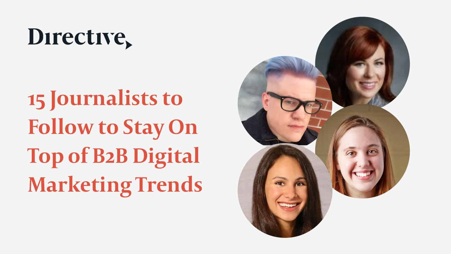 Journalists reporting on B2B digital marketing.