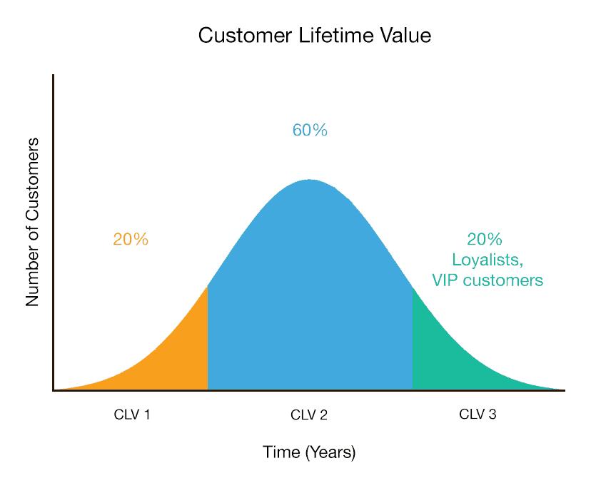 Customer lifetime value graph