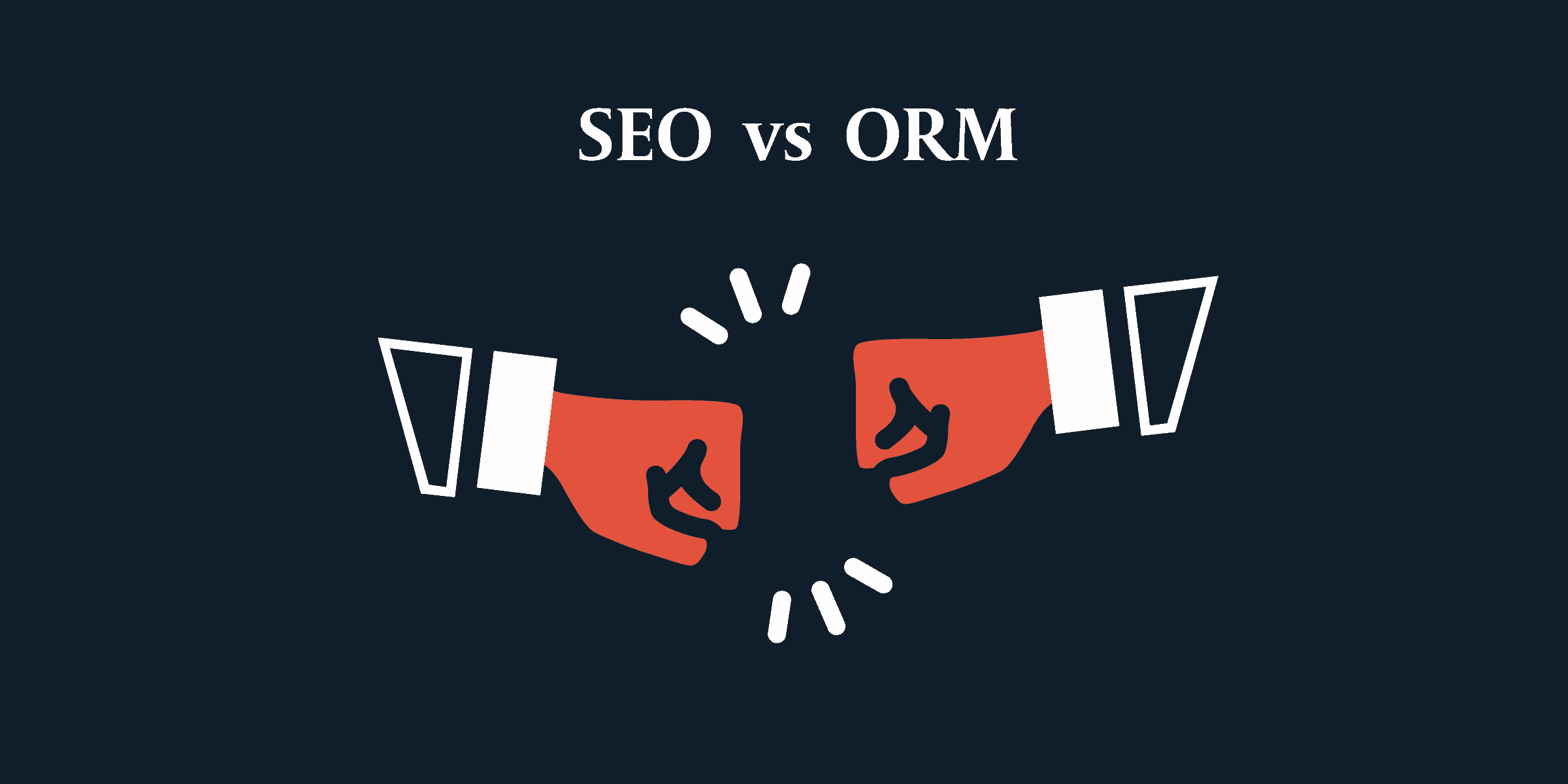 Graphic showing SEO reputation management is bringing together both SEO and online reputation management.