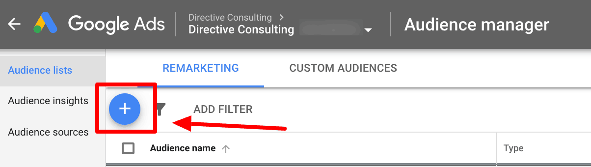 Screenshot showing another step to create similar audiences in Google.
