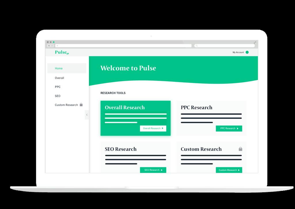 Image of Pulse platform, a comprehensive database for search marketing.