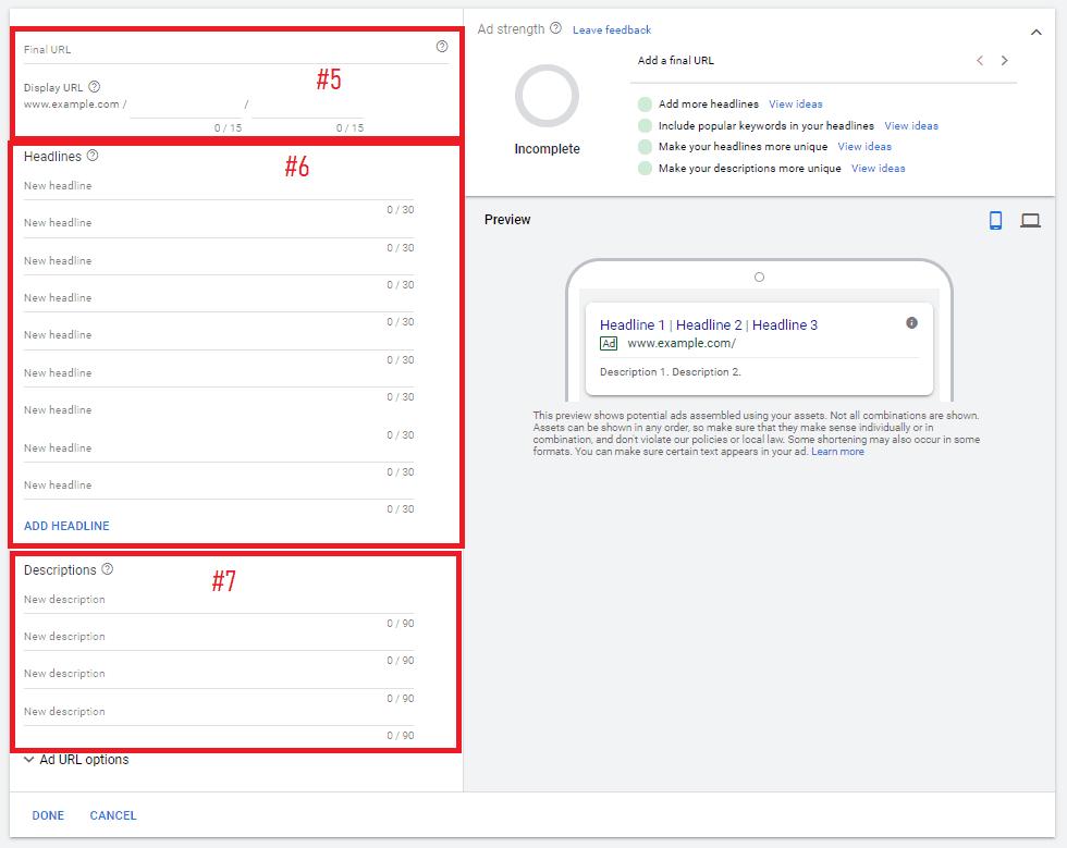google responsive ad setup