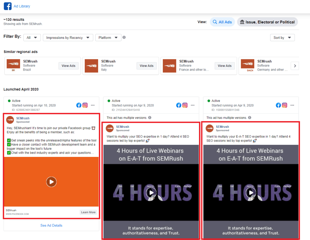 semrush display ad preview