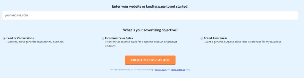 wordstream display ad tool