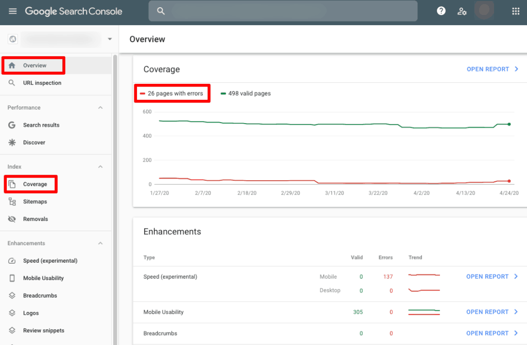 google search console seo audit tool