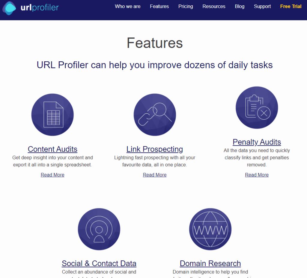 url profiler free link building tool