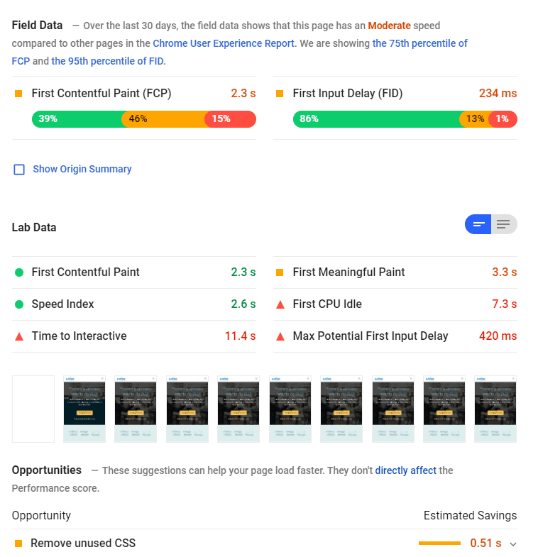 google page speed insights seo audit tool