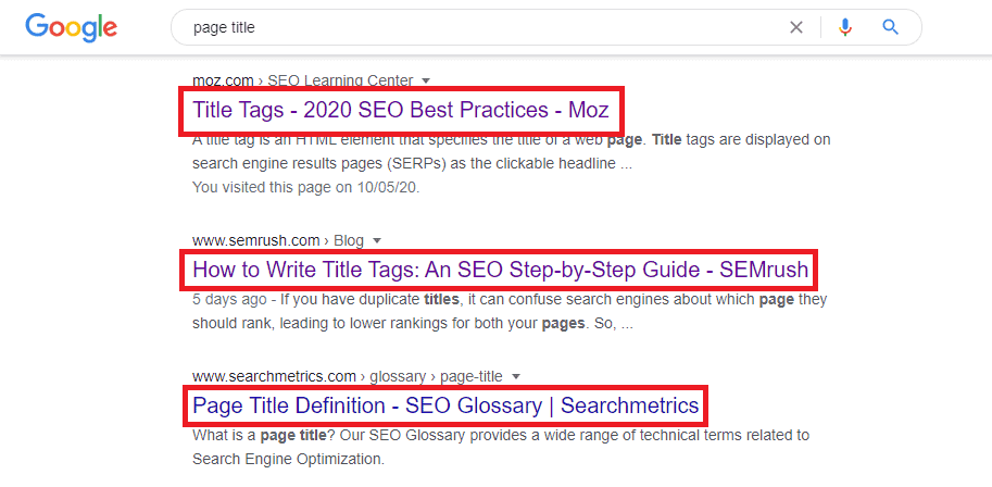 seo page title serp preview