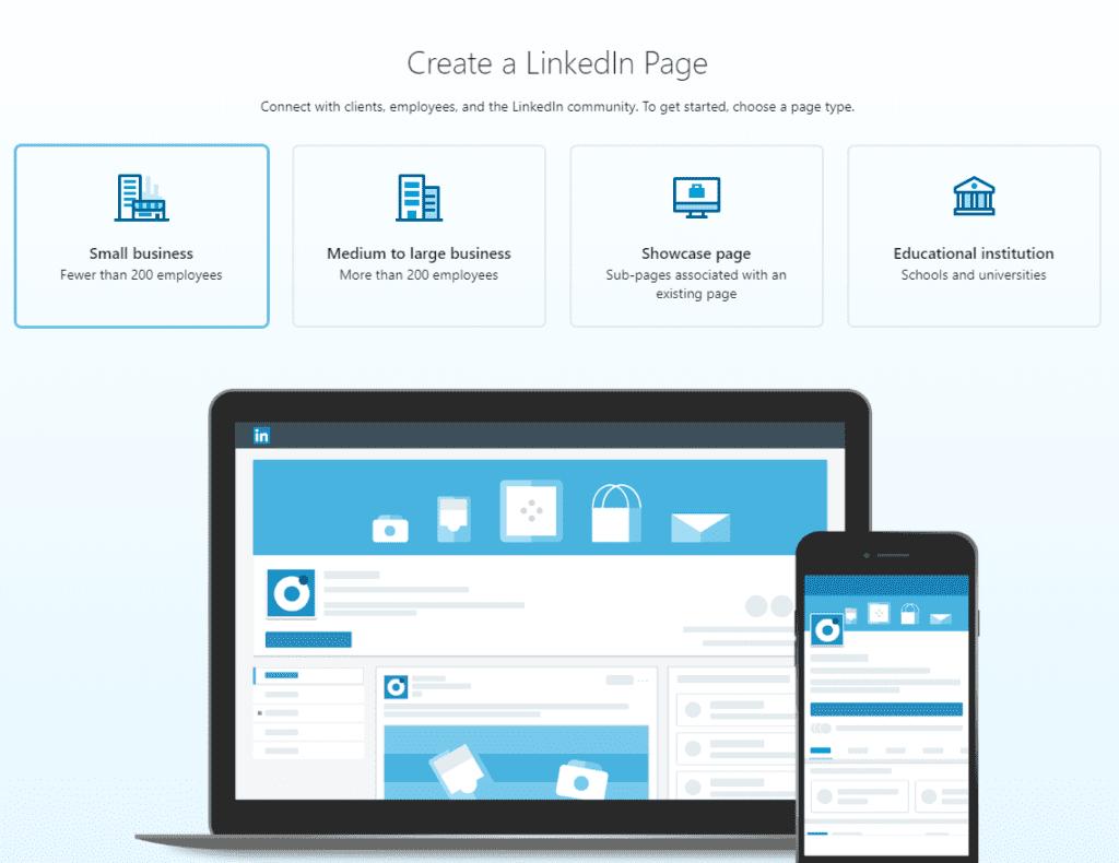 linkedin business page setup