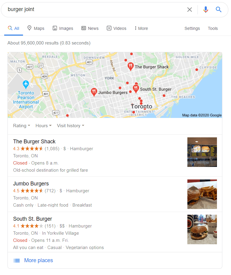 google places social proof