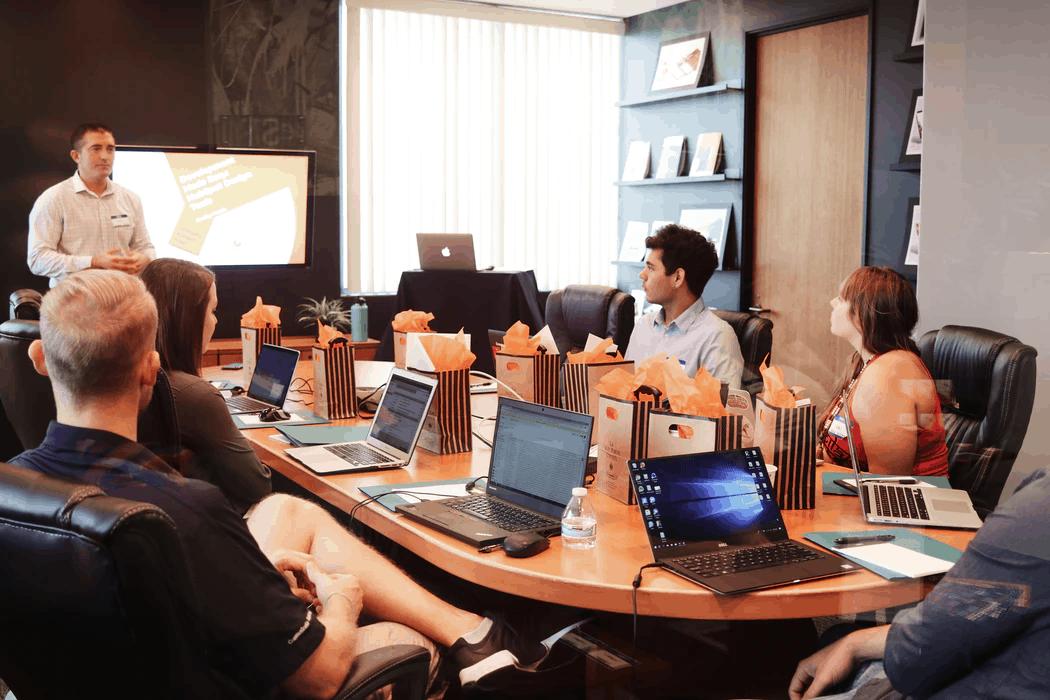 Unsplash team meeting stock image