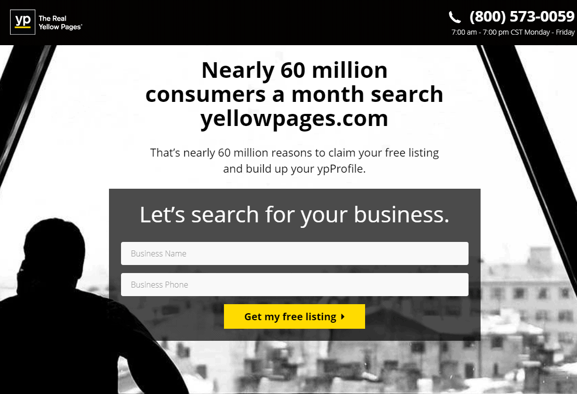 listing business on yellowpages