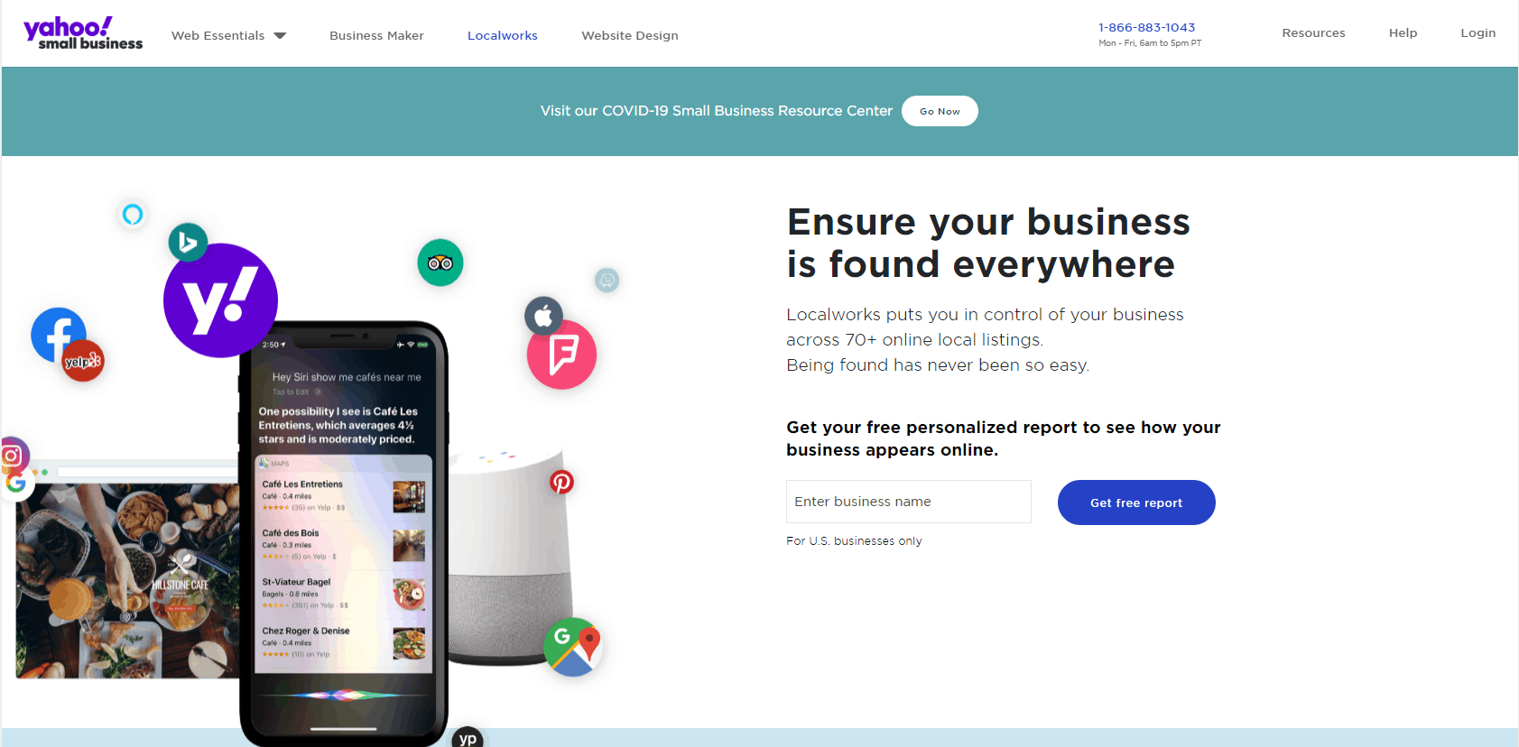yahoo local works page
