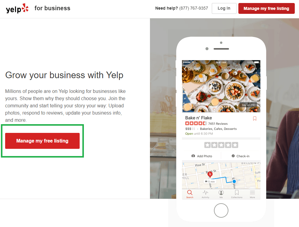 claim business listing on yelp