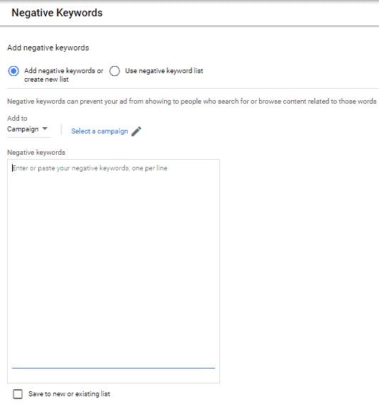 negative keyword audit
