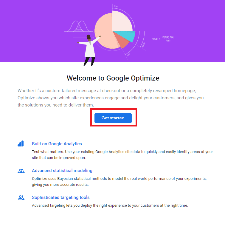 google optimize start