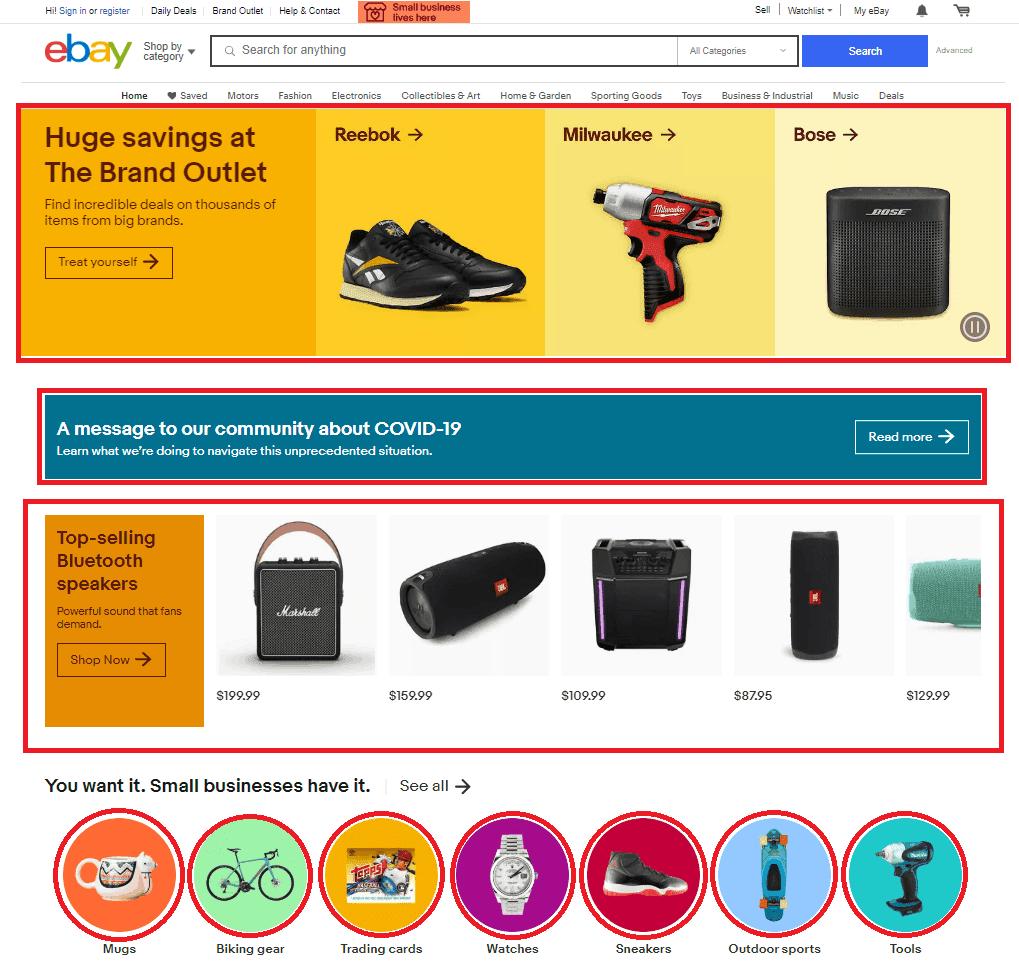 website design shapes example