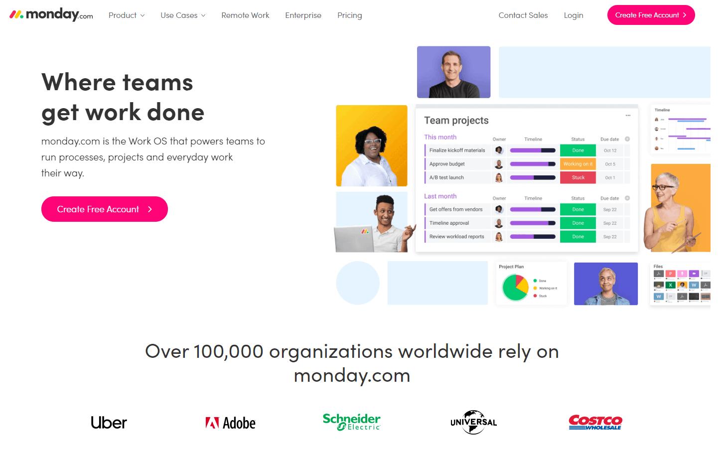 monday.com web interface