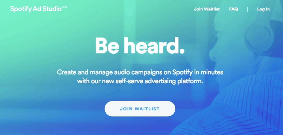 music streaming advertisement