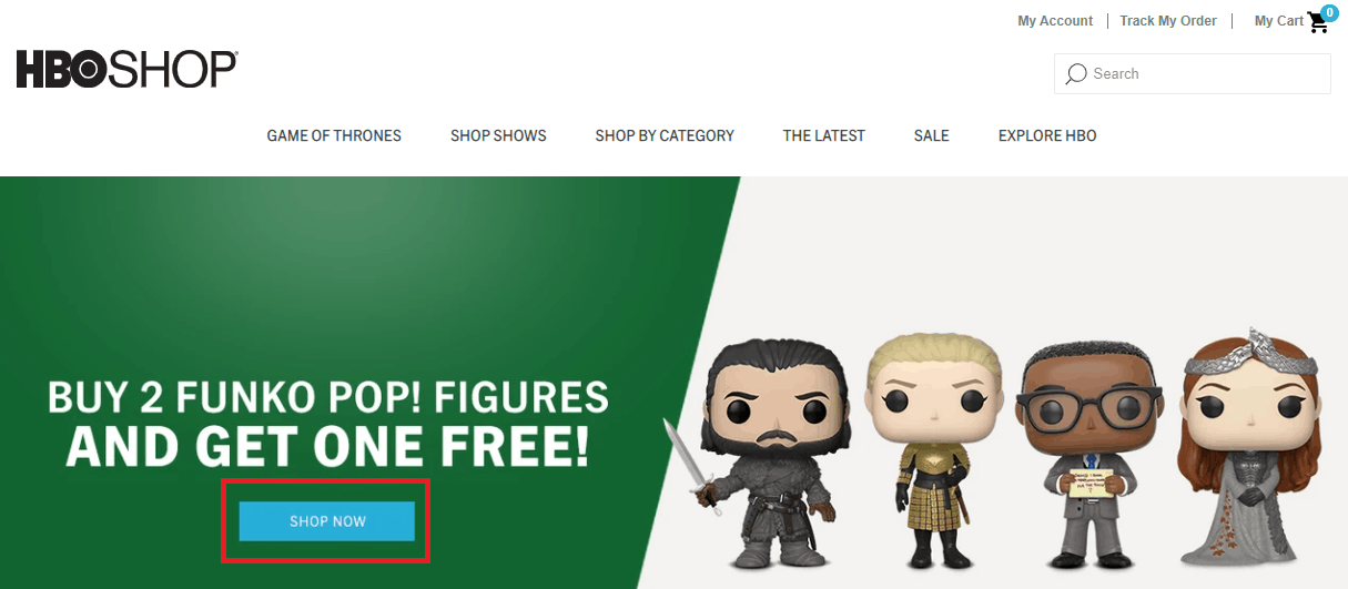 HBO shop web interface