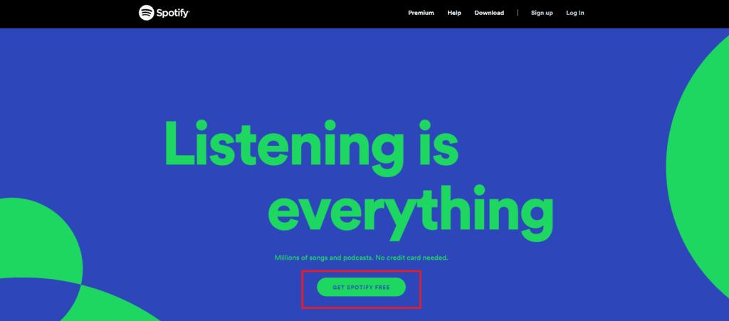 spotify website button