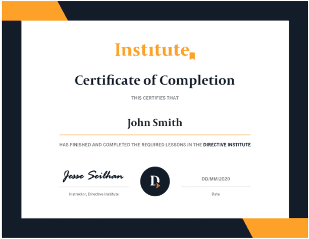 digital marketing certification example
