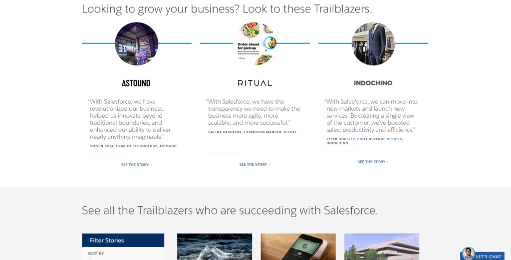 salesforce testimonials