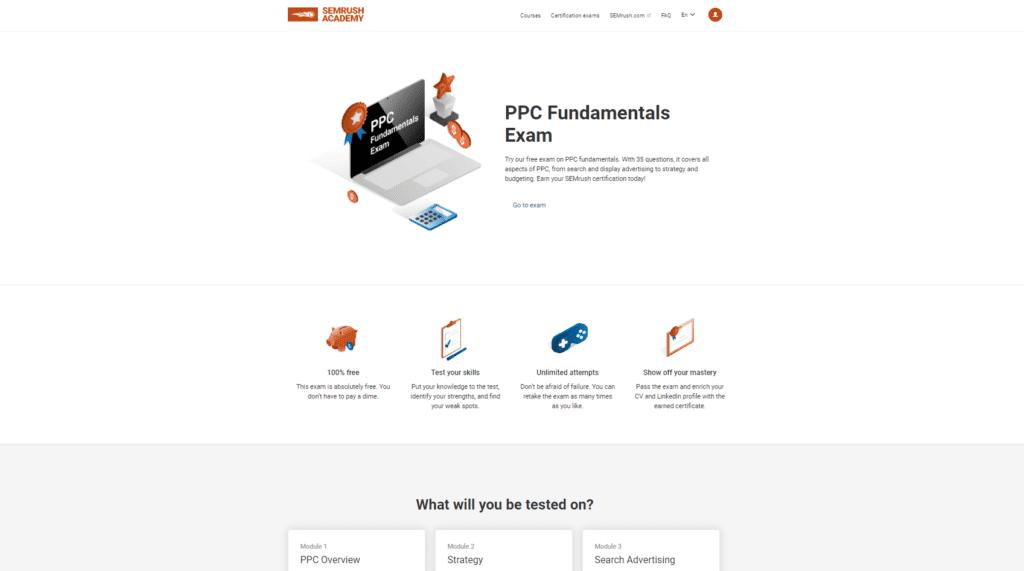 semrush ppc certification