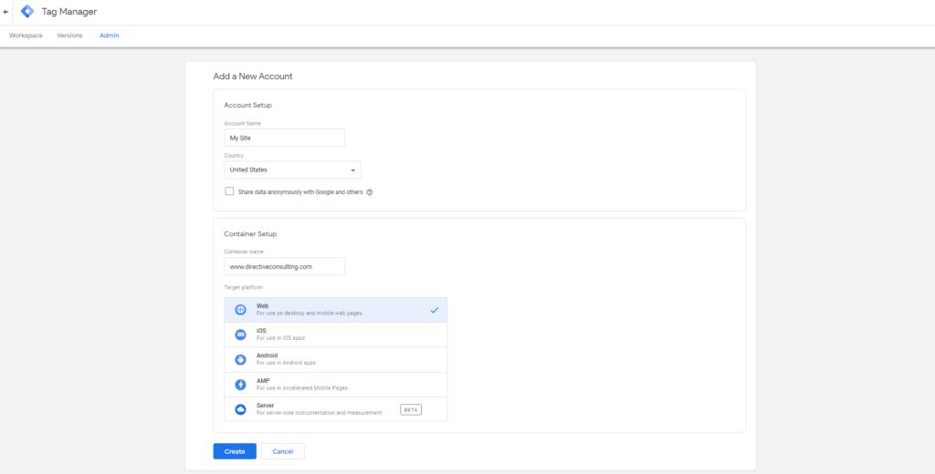 google tag manager platform